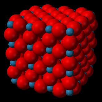 Rhenium trioxide - Image: Rhenium trioxide 3D vd W