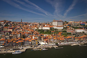 Ribeira Square - Aerial view of Ribeira Square and the surrounding district