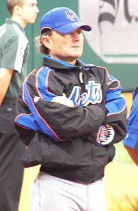 New York Mets pitching coach Rick Peterson before a Mets/Devil Rays spring training game at Tropicana Field in St. Petersburg, Florida.
