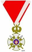 Ridderkruis Orde van Karageorge met zwaarden 1914.jpg