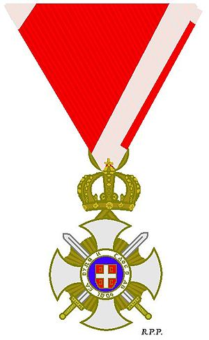 Order of Karađorđe's Star - Image: Ridderkruis Orde van Karageorge met zwaarden 1914