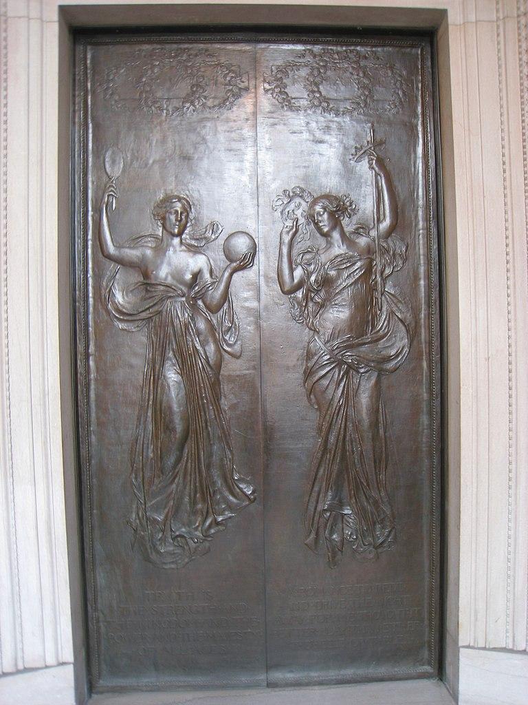 File Right Door By Daniel Chester French Boston Public