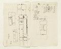 Ritningar och utkast till byggnad. Av Nils Bielkes hand, cirka 1700 - Skoklosters slott - 98152.tif