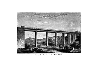 "Devon Valley Railway - This image of the Devon Viaduct is from the book ""Girder-making and the practice of bridge building in wrought iron"" (1879) by Edward Moss Hutchinson"