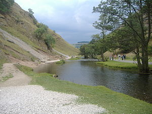 River Dove, Central England - The River Dove at Dovedale