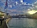 River Limmat, Zurich Limmatquai 02.jpg