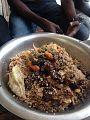 Riz gras sommeillé de legumes suivis d'un poisson carpe.jpg