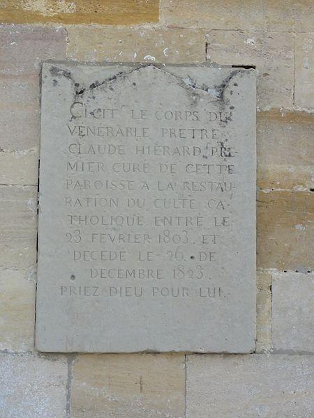 Robert-Espagne (Meuse) église, plaque