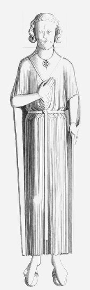 Robert, 1st Earl of Gloucester - Effigy of Robert Consul, St James' Priory, Bristol. 1840 drawing
