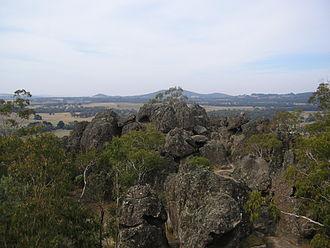 Hanging Rock, Victoria - Image: Rock Formations Hanging Rock, Victoria, Australia