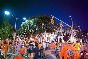 Auburn University traditions - The Auburn tradition of rolling Toomer's Corner.