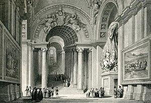 Scala Regia (Vatican) - Gian Lorenzo Bernini's Scala Regia in the Apostolic Palace, Vatican, c. 1835
