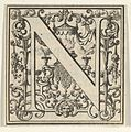 Roman Alphabet letter N with Louis XIV decoration MET DP855581.jpg