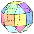 Ein Polyeder - Public Domain von Svdmolen - commons.wikimedia.org/wiki/File:Rombische_kuboctaëder.png