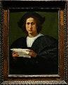 Rosso fiorentino, ritratto d'uomo con lettera, 1518.jpg