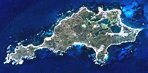 Rottnest Island - Rottnest Island from space