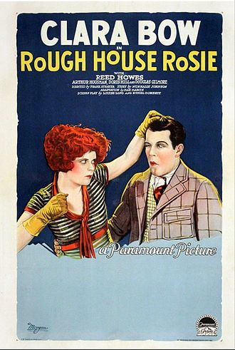 Rough House Rosie - Clara Bow and Reed Howes in 1927 theatrical poster