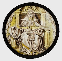 Roundel with the Holy Trinity