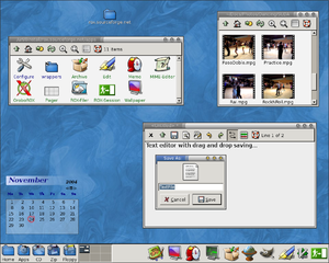 A screenshot of the ROX desktop