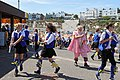 Royal Liberty Morris with 'molly' at Broadstairs Folk Week 2017, Kent, England 1.jpg