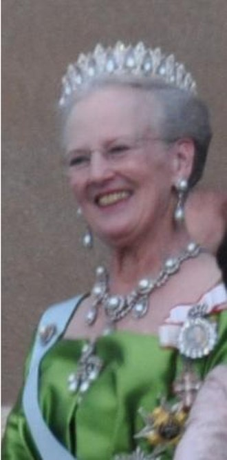 Royal family order - Queen Margrethe II wearing the insignia of the order