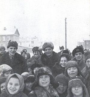 East Karelian concentration camps - Image: Ru fi Suomalaisen internointileirin vakea Aanislinnassa