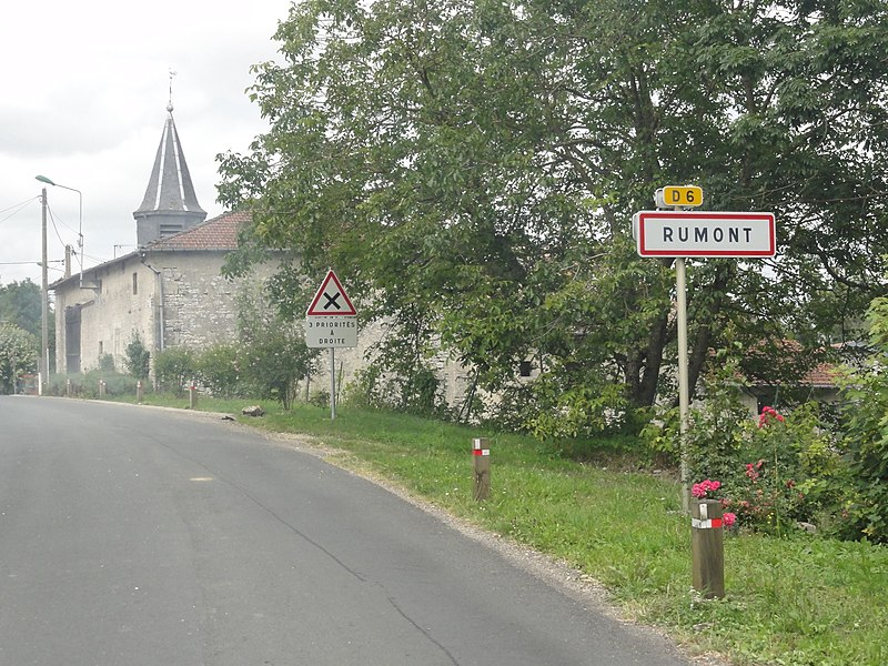 Rumont (Meuse) city limit sign