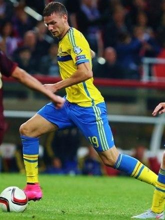 Marcus Berg - Berg on action for Sweden in September 2015