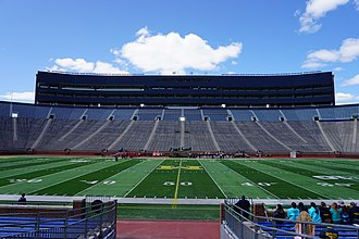 Michigan Wolverines women's lacrosse - Michigan Stadium before a game in April 2015