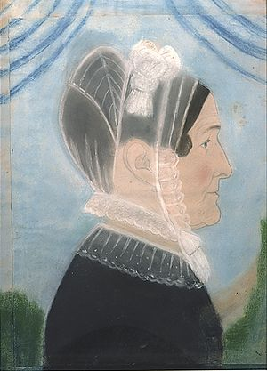 Ruth Henshaw Bascom - Self-portrait, drawing, 1829, Five Colleges and Historic Deerfield Museum Consortium