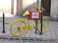Sárga kerékpár, Mária utca és Krúdy utca sarok, 2018 Józsefváros.jpg