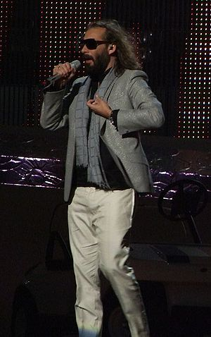 "Sébastien Tellier - Sébastien Tellier performing ""Divine"" at the final of the Eurovision Song Contest 2008 in Belgrade, Serbia, 24 May 2008"