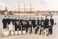 Sønderborg friv. Brandværnsorkester på havnen i 1992.png