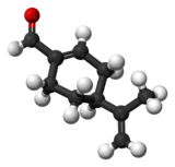 Ball-and-stick model of perillaldehyde