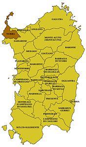 Cartina Sardegna Alghero.Nurra Wikipedia