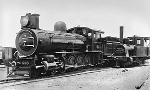 NZASM 14 Tonner 0-4-0T - 14 Tonner next to CSAR Class 8-L1 4-8-0 no. 438