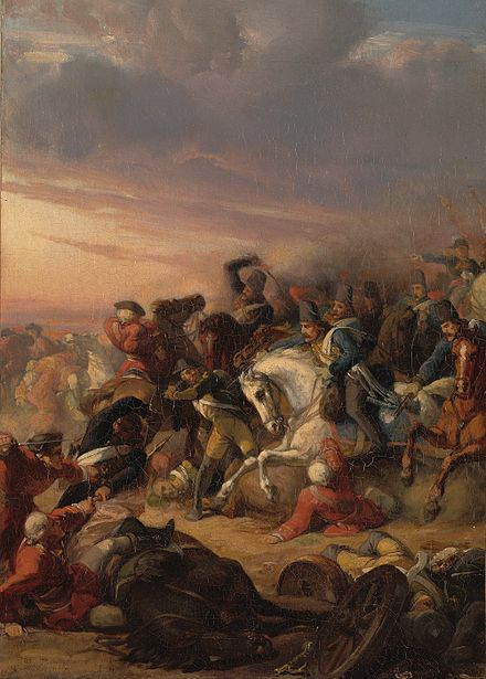 The French-Dutch victory over the British and Russians at the Battle of Castricum, 6 October 1799, by Jan Antoon Neuhys, Amsterdam Museum, Netherlands SA 4941-Anno 1799. De slag bij Castricum..jpg