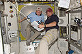STS-119 Day 5 Michael Fincke and Tony Antonelli.jpg