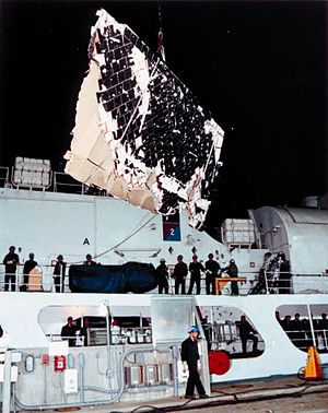 USCGC Dallas (WHEC-716) - STS-51-L debris aboard the USGS cutter Dallas