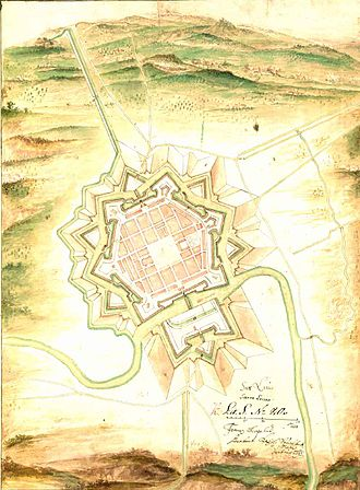 Saarlouis - The Fortress of Saarlouis in 1693.