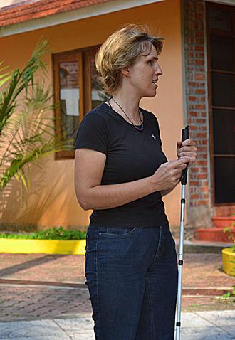 Sabriye Tenberken - Sabriye Tenberken at kanthari international