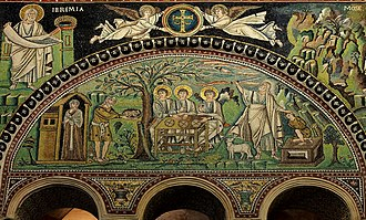 "Binding of Isaac - Mosaic ""Sacrifice of Isaac"" -  Basilica of San Vitale  (A.D. 547)"
