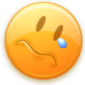 """Sad face emoticon from the """"Lin"""" icon package.png"""