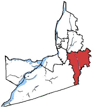 Saint-Jean (electoral district) - Saint-Jean in relation to other Montérégie federal electoral districts.