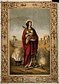 Saint Dorothy. Colour lithograph. Wellcome V0031913.jpg