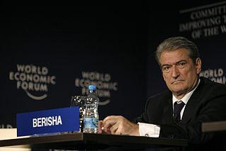 Sali Berisha Albanian politician