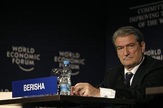 Sali Berisha - Image: Sali Berisha World Economic Forum Turkey 2008