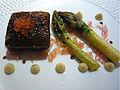 Salmon and asparagus (7171992387).jpg