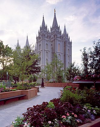 Temple (Latter Day Saints) - The Salt Lake Temple, operated by The Church of Jesus Christ of Latter-day Saints, is the best-known Mormon temple. Located in Salt Lake City, Utah, it is the centerpiece of the 10 acre (40,000 m2) Temple Square.
