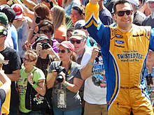Sam Hornish Jr. at the Daytona 500.JPG